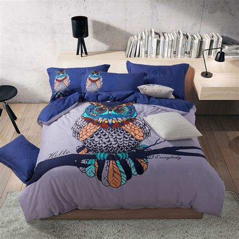 owl queen comforter set online get cheap owl comforter queen aliexpress com