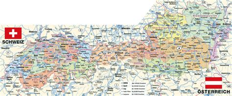 austria map with cities large detailed administrative map of austria with all