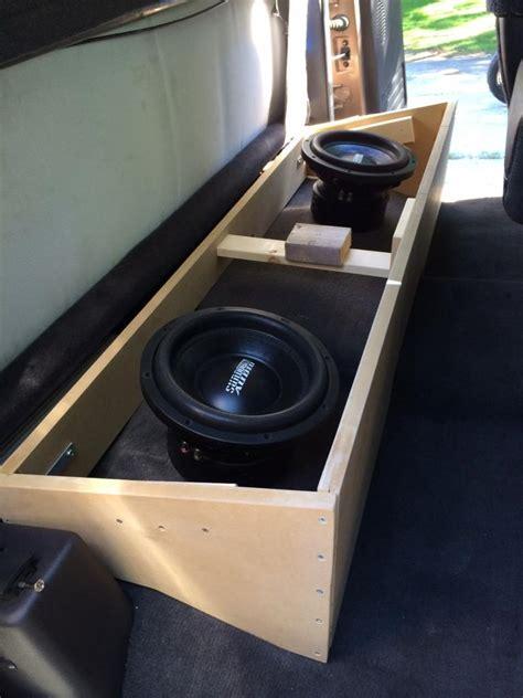 Subwoofer Enclosure Carpet by Club Cab Custom Subwoofer Box Build W Pics Dodge