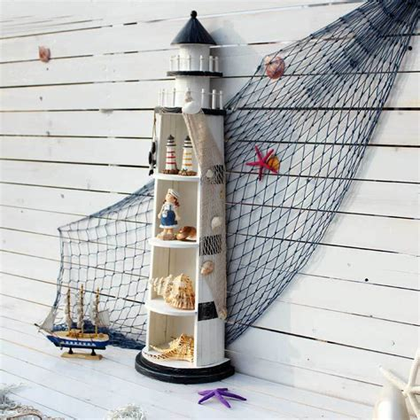 light house displays large wood lighthouse cd rack shelf display cabinet
