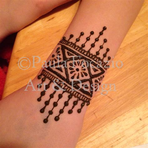 simple henna tattoo henna mehndi cuff bracelet by paula focazio design