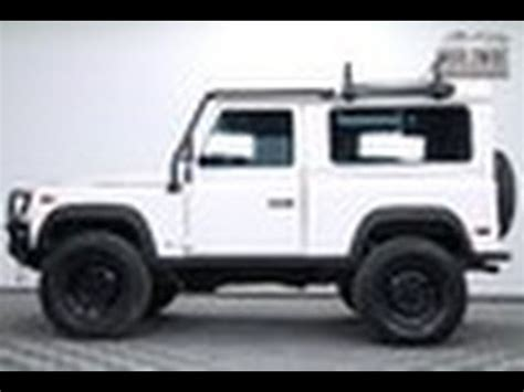 white land rover defender 90 1997 land rover defender 90 d90 white auto ac custom