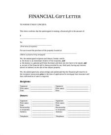 Mortgage Gift Letter Template by Sle Gift Letter 9 Exles In Word Pdf