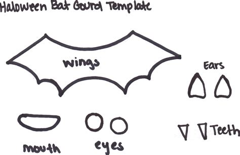 bat wing template bat gourd about crafts