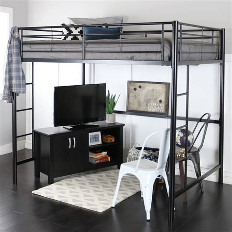 full size bed with desk full size loft bed with desk and storage masata design loaded full size loft bed