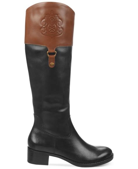franco sarto clarity shaft boots in black lyst