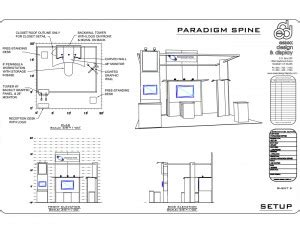 Full House Floor Plan custom trade show displays exhibition booth
