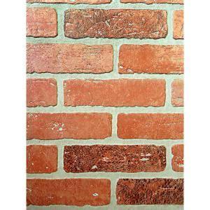 1/4 in. x 48 in. x 96 in. Kingston Brick Hardboard Wall