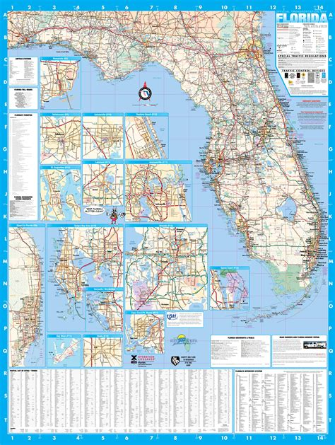 wall map florida wall map executive commercial edition