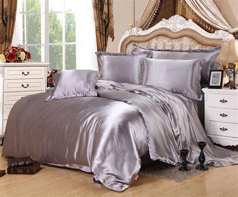 Bed Comforter Measurements by Home Textile Solid Satin 3 4pcs King Size