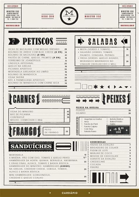 designspiration menu fun typography in restaurant menu inspiration pinterest
