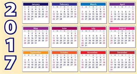 Calendarios De Calendarios 2017 Para Imprimir