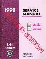 car repair manuals online pdf 1998 oldsmobile cutlass regenerative braking 1998 chevrolet oldsmobile cutlass service manual 3 volume set