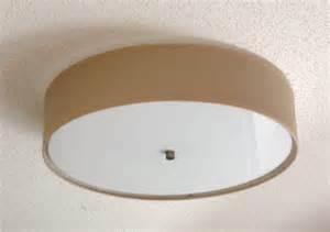 Flush Mount Drum Ceiling Light Flush Mount Linen Drum Shade Light Fixture S T Lighting Llc