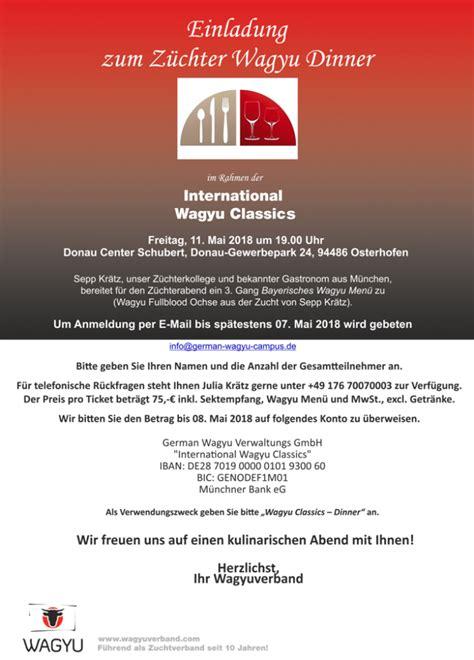 Taste Of München Englischer Garten Adresse by Allgemeines German Wagyu Academy Sepp Kr 228 Tz