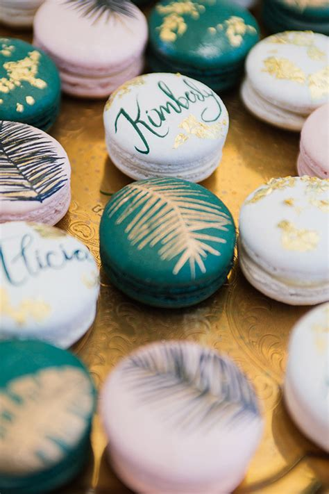 Macaron Baby Shower Favor by Tropical Macarons Wedding Ideas 100 Layer Cake