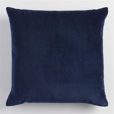 navy pillows for couch navy blue velvet throw pillow world market
