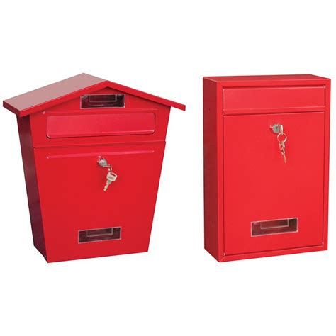 Weatherproof Letter Boxes Post Box Steel Letter Mail Square House Wall Mountable Outdoor Key Lock Ebay