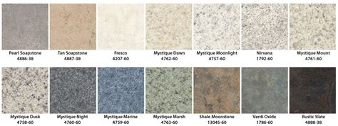 colors of laminate countertops
