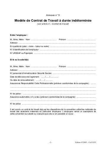 exemple contrat de travail 80 document