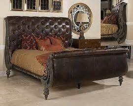 smith bedroom furniture tufted leather sleigh bed by maitland smith furniture