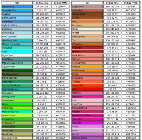 colores html mcbeth html color codes