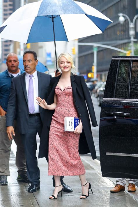 emma stone colbert emma stone arrives at late show with stephen colbert in