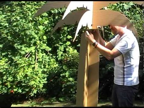 How To Make Palm Tree Leaves Out Of Paper - allbox network cardboard palm tree