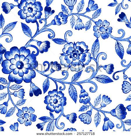 pattern web flower vector floral watercolor texture pattern blue stock vector