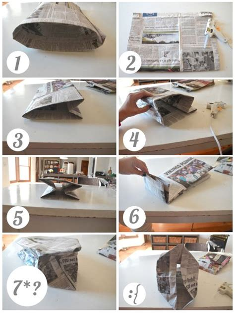 How To Make Paper Bags From Newspaper - 25 best ideas about newspaper bags on the