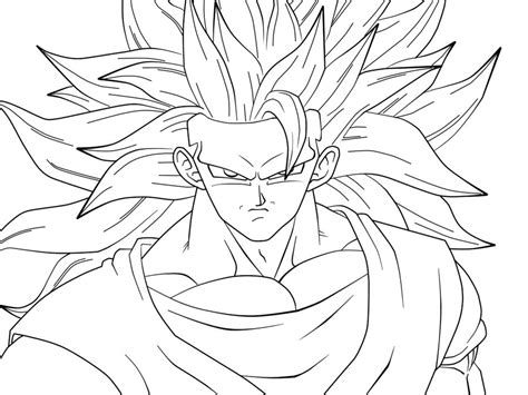 super saiyan 3 goku coloring pages
