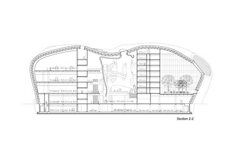 he sections gallery of ordos art city museum mad architects 13