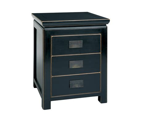 Black Side Table Black Lacquer Bed Side Tables Shanxi Bedside