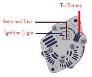 wiring alternator wiring circuit diagram