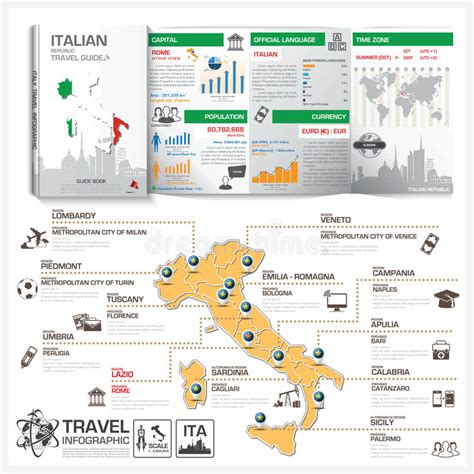 italy the official travel guide books italian republic travel guide book business infographic