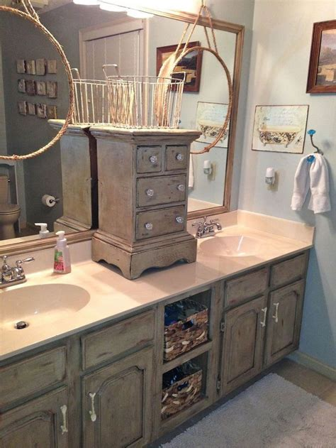 Painting Bathroom Cabinets Ideas Bathroom Vanity Makeover With Sloan Chalk Paint Hometalk