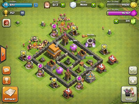layout editor coc th 4 8 best images of web base design war clanbase th7 clash