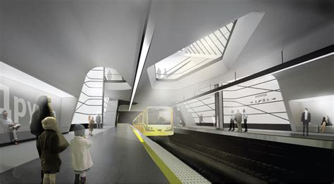 gallery of the lantern metro station and public arena