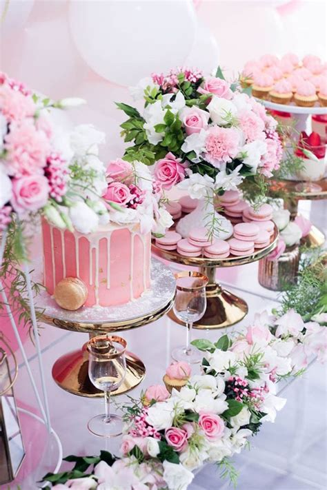 pink and gold cake table decor kara s ideas pink white gold garden kara
