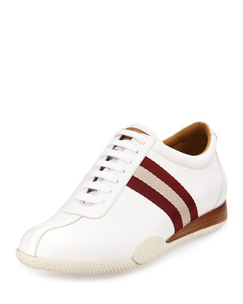 mens bally sneakers bally freenew leather sneakers in white for lyst