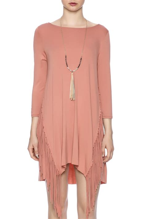 New Pakaianonline Tunic Termurah 1 in fringe tunic dress from new york city by local color nyc shoptiques