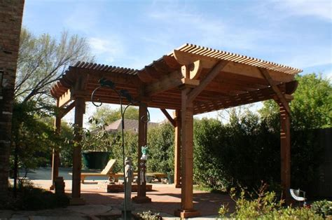 two level l shaped pergola with benches pergolas - L Shaped Pergola