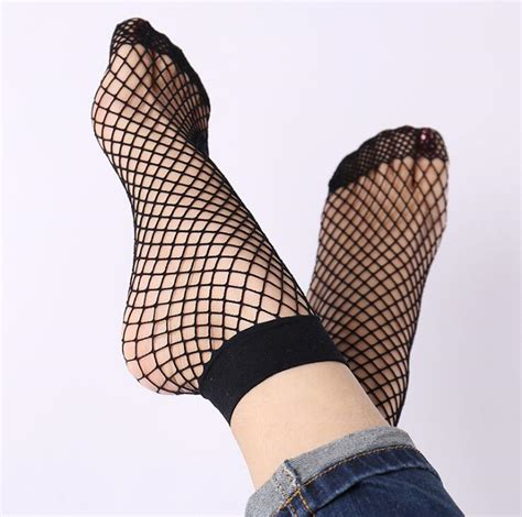 Net Socks 1 fishnet ankle high socks mesh lace fish net socks sanwood qf042 in