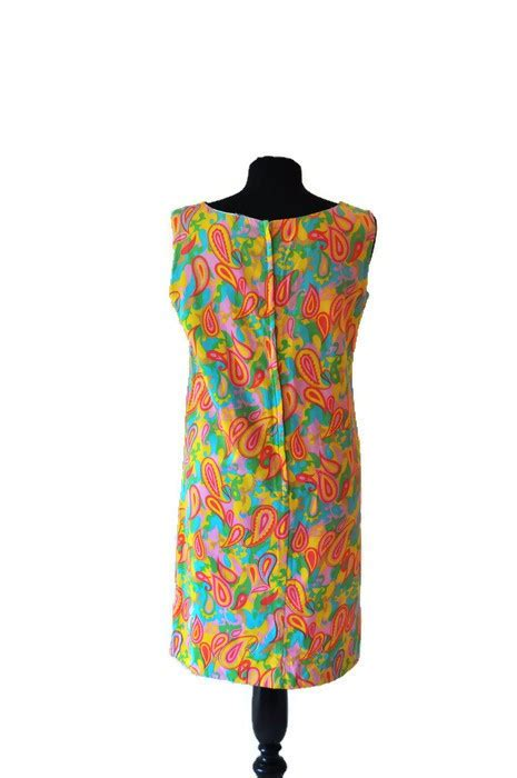 60 s psychedelic shift dress just vintage clothing co