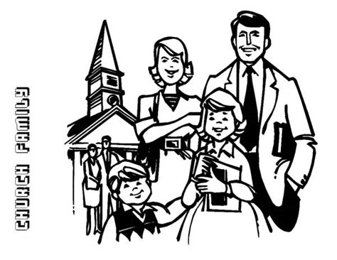 coloring page of family going to church family going to church drawing www pixshark com images