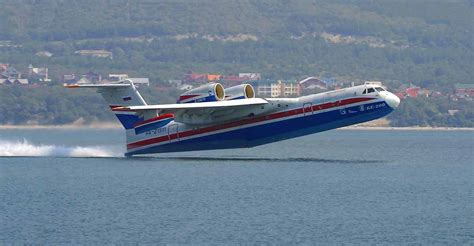 demonstration of the russian jet flying boat be 200 - Russian Flying Boat Jet