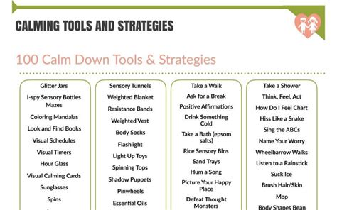 what color calms you down 100 calm down tools and strategies you can use today