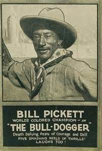 Bill pickett cowboy born in travis county tx only 5 7 and