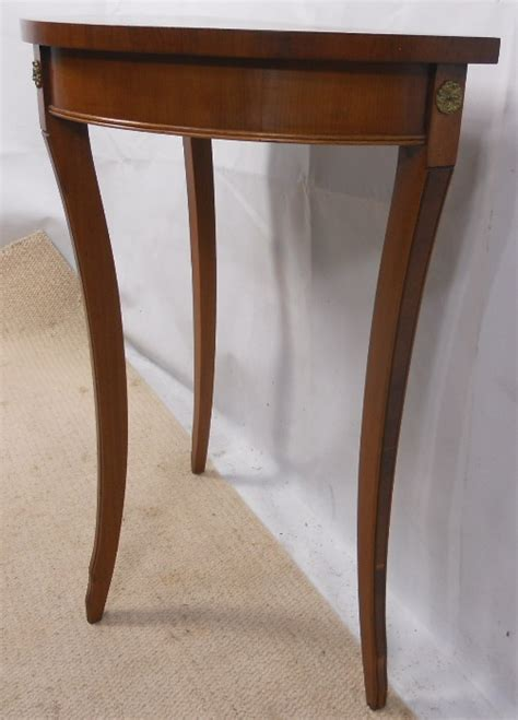 Yew Wood Console Table Small Yew Wood Bow Front Console Table Sold