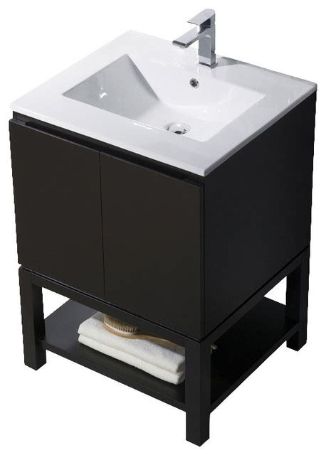 Metal Sink Vanity by Vanity Emmet 25 With Integrated White Porcelain Metal